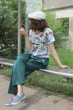 Bundfaltenhose shiny grün Damenhose Hip Hop 90er TrueVINTAGE 90s silky pants