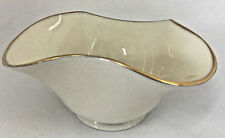 Lenox Usa Small Scalloped Bowl Off White Gold Trim Pinched Serving Bowl American