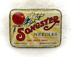 Songster Vintage Gramophone Needles Tin-Some Contents