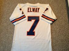 John Elway Denver Broncos Small Mitchell And Ness Throwback Sewn Jersey 1990 Wht