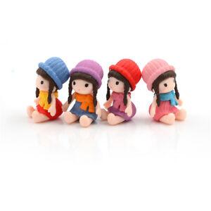 1PC Lovely Fairy Garden Miniature Girls DIY Micro Landscape Ornament Decor B;AWJ