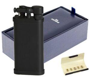 ITT IM Corona Old Boy Pfeifenfeuerzeug schwarz matt mit Schrägflamme 64-9111
