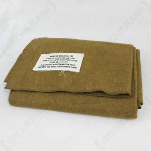 WW2 US Reproduction Mustard Brown Wool Blanket