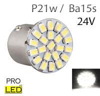 1 ampoule à LED smd  P21w / BA15s   24V Volt Blanc  pour Camion  Poids lourd