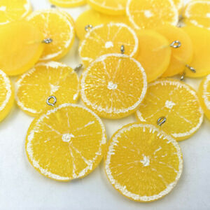 Resin Fruit yellow lemon Pendant bracelet earring Jewelry Accessorie 27X32MM
