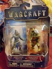WARCRAFT  - ALLIANCE SOLDIER VS DUROTAN - 2.5  INCH MINI FIGURE  TWO PACK