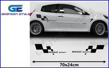 1 Paar - RENAULT SPORT - Auto Seiten Aufkleber - Sticker - Decal - Car !