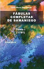 FABULAS COMPLETAS DE SAMANIEGO (TOMO I). ENVÍO URGENTE (ESPAÑA)