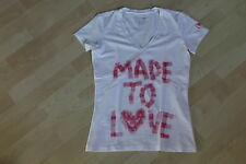 "*** TEE SHIRT CALVIN KLEIN - BLANC - INSCRIPTIONS ""MADE TO LOVE"" - TAILLE 38"