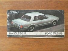 FORD TAUNUS HANDLEIDING OWNER;S MANUAL 1977 ? CAR AUTO