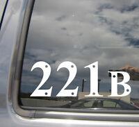 221B Sherlock Holmes Baker Street - Car Window Vinyl Die-Cut Decal Sticker 10003