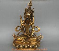 11'' China Tibet Vajrasattva Yab-yum Buddha Bronze Statue