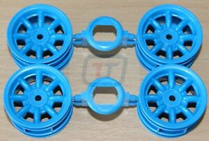 Tamiya 58687 Ford Escort Mk.II Rally/MF01x 9335844/19335844 Wheels (Blue, 4 Pcs)