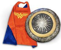 WONDER WOMAN TOYS Girls Fancy dress Costume Wonder toys bundle Cape Kids DC
