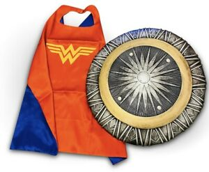 WONDER WOMAN TOYS Girls Fancy dress Costume Wonder toys bundle Cape Kids DC