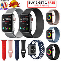 For Apple Watch Band Strap Series 5 4  44mm 42mm Milanese Nylon Silicone Sport