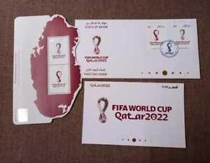 Qatar world Cup 2022 FDC + Postal Card + Stamps Sheet MNH