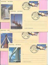 AUSTRALIA 1987 Set of AEROGRAMME FDC's - ENGINEERING ACHIEVEMENTS Shs Melbourne