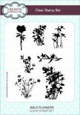 John lockwood A5 clear stamp sets éléments timbres fleurs sauvages CEC781 7 timbres