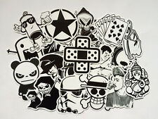 60x Mix Lot Black White Stickers Skateboard Graffiti Laptop Luggage Car Decal LB