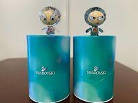 Set of 2 New in Box SWAROVSKI CRYSTAL Lovlots Erika & Eliot Movable Figurines