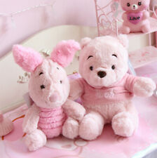 Disney Pooh Bear Piglet Lovely Pink Sakura Plush Doll Toy Girls Gift Set of 2