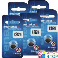 2 RENATA CR1216 LITHIUM BATTERIES 3V CELL COIN BUTTON EXP 2023 NEW