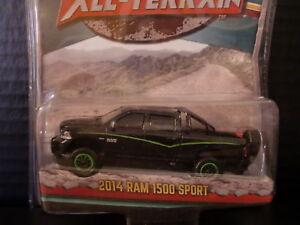 Greenlight 2014 Dodge Ram Sport Truck Half Gloss & Half Flat Black 1/64 Die Cast