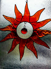 Shades Of Red & Orange Sun with Red Glass Nugget Sun Catcher