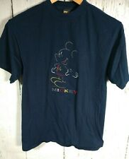 Vtg Mickey Unlimited Disney Mickey Mouse 90s T-shirt Navy Blue Size Large