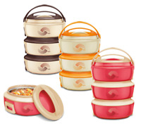 3pc Microwaveable Hot Pot Set Thermal Insulated Casserole Food Serving Dishes