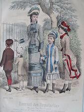 1i69 Gravure de mode 1879 journal des demoiselles