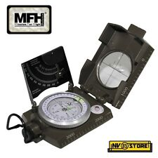 BUSSOLA MILITARE MILITARY COMPASS MFH MODELLO ITALIA CORPO IN METALLO METAL BODY