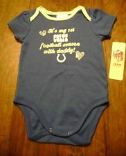 New COLTS Football Girls Blue One Piece Bodysuit Size 6-12 m NWT Horse Shoe NFL