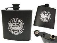 Flip Skateboards Hell on Wheels Hip Flask - 5oz Stainless Steel - Brand New