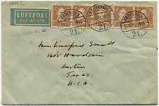 DENMARK, AIR MAIL, ANNULS KOBENHAVN, OCT 1945, 5 STAMPS X C25 EACH        m