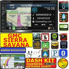 00 & UP GMC SIERRA SAVANA GARMIN KENWOOD GPS NAV CARPLAY ANDROID AUTO BLUETOOTH