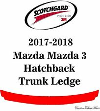3M Scotchgard Paint Protection Film Clear Bra 2017 2018 Mazda Mazda 3 Hatchback