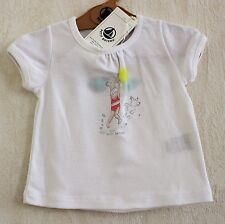 Neuf : Tee-shirt PETIT BATEAU 3 mois blanc petite fille maillot chien bébé fille