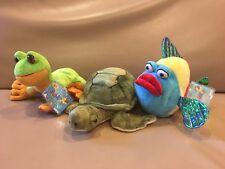 Webkinz Lil'Kinz Plush Hm438 Pucker Fish Hs109 Tree Frog Signature Sea Turtle