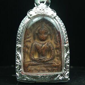 Rare Antique Ancient Siam Sum Kor,Thai Buddha Amulet Pendant 3