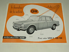 Prospectus SIMCA 1300 1500 Acc GH 1963  catalogue,brochure, prospekt