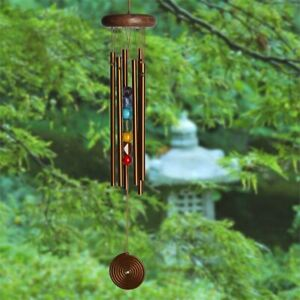 """Woodstock Chimes 17"""" Chime Seven Stones of the Chakra Bronze  CC7BR"""