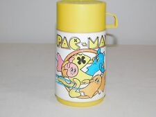 "Vintage 6 1/2"" High 1980 Bally Midway Aladdin Pac-Man Plastic Thermos"
