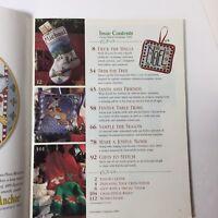Better Homes & Gardens Cross Stitch Christmas 2000 Magazine Ornaments Santa