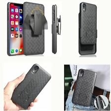 For Apple iPhone XS Belt Clip Holster Combo Cell Phone Case With KickStand Cover