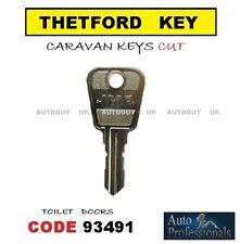 THETFORD CARAVAN TOILET / LOO DOOR KEY CODE ( 93491 ) REPLACEMENT / SPARE KEYS