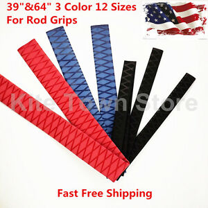 """3 Colors 12 Sizes Heat Shrink Wrap Tubing X-Tube, 39""""&64"""" Lengths for Rod Grips"""