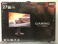 "Acer XF270HU 27"" 144Hz DVI HDMI DP AMD FreeSync Gaming LED Monitor 2560x1440 IPS"