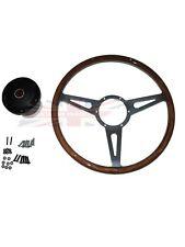 "New 15"" Laminated Riveted Wood Steering Wheel and Adaptor for MGA 1955-1962"